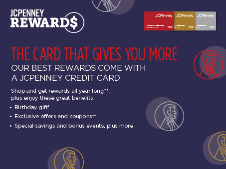 Verify your account number; Enter your name as it's listed on the card; Create a username and password. Once you register credit card account, you can begin making online payments for your JCPenney credit card.